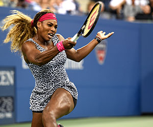 at the 2014 US Open wearing the fierce Nike Serena Dress in Flushing  Meadows 33b6b90191c